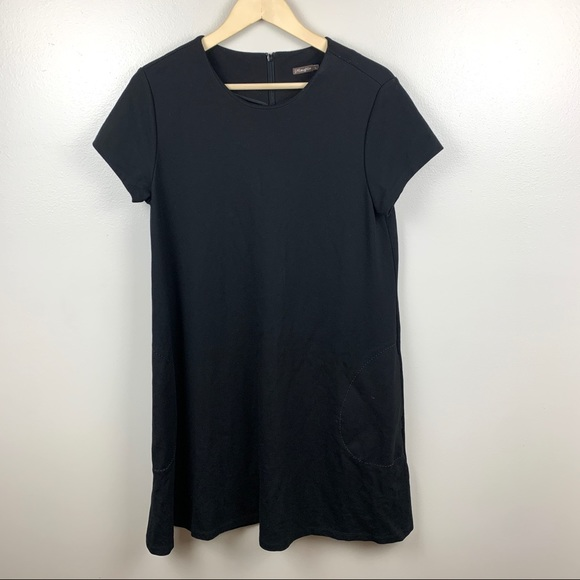 J.Mclaughlin Ponte Knit Short Sleeve Dress Pockets